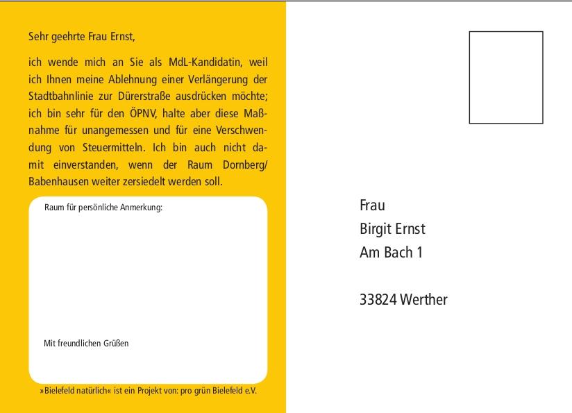 Postkarte Ernst