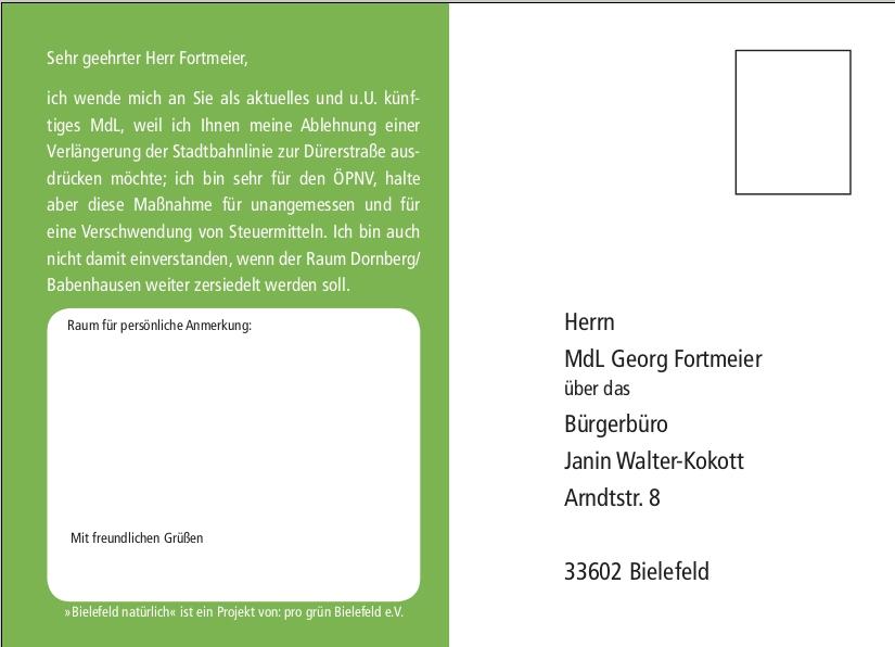 Postkarte Fortmeier