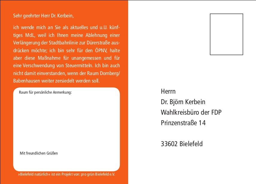 Postkarte Kerbein