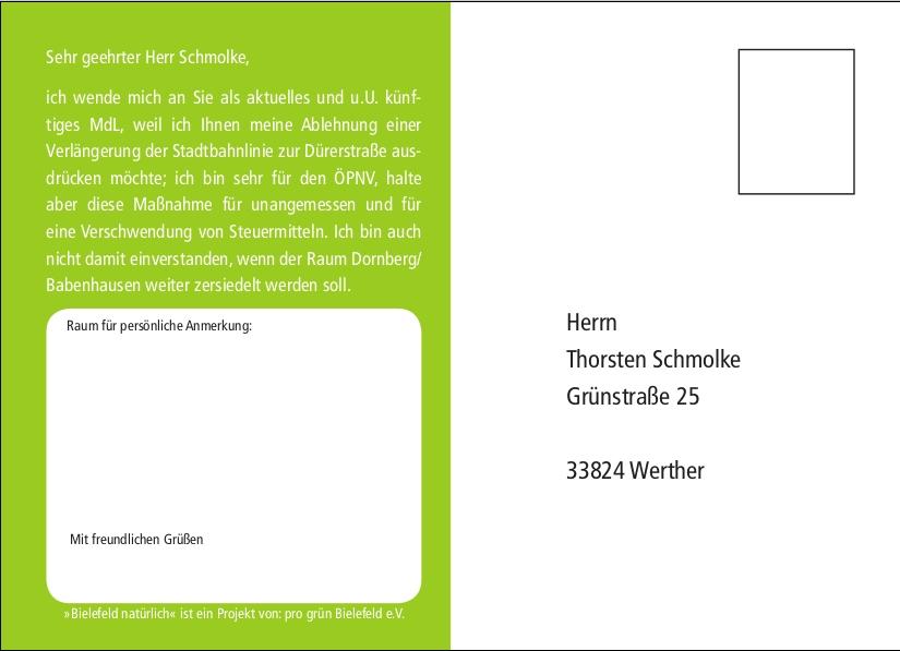 Postkarte Schmolke