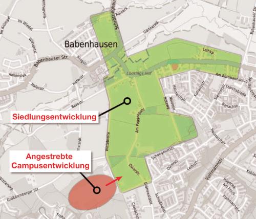 Bild: 120ha Flächenverbrauch für eine ganz neue Siedlung in Babenhausen (bitte Bilder nachladen)